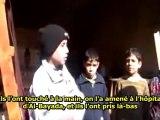 Rencontre avec des enfants syriens - Homs - Syrie - 29/01/2012 - sous-titres français