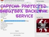 Captcha Protected Shoutbox Backlink - Captcha Protected Shoutbox Backlink Packages