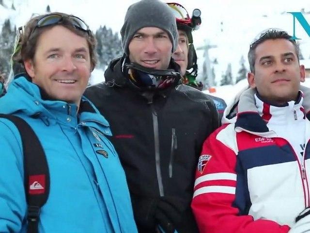 Born Designer 2012 : Zinedine Zidane fait du ski pour ELA