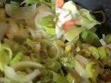 Leek and sweet Potato soup - Soupe de poireaux et patates douces