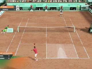 Jo-Wilfried Tsonga vs. Rafa Nadal de Grand Chelem Tennis 2