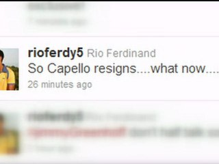 Fabio Capello tweets: England players react to resignation