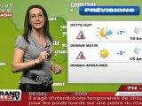 Les Prévisions Météo du  10 février 2012 (Lille)
