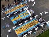 """Renault F1 """"champion du monde"""" show qui a fait le buzz à la tour Eiffel"""