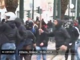 Affrontements lors de la grève en Grèce - no comment