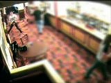 Caught On CCTV: Crazy Dude Goes Chainsaw Massacre Into The Pub And Gets Knocked Out!