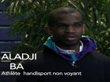 Aladji Ba, athlète, soutient François Hollande