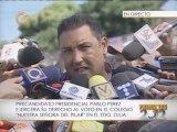Pablo Pérez: Yo confío en el pueblo venezolano