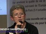 Manifestation LGV - 9 février 2012 (Geneviève Darrieussecq, Maire de Mont-de-Marsan)