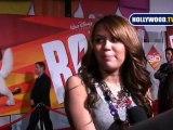 Premiere of Disney's Bolt: Miley Cyrus and John Travolta
