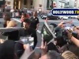 Christian Bale Greet Fans at Terminator Salvation Premiere