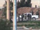 فري برس   حماة اقتحام عناصر الجيش في اقتحام طريق حلب 12 2 2012