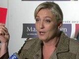 Marine Le Pen décerne un carton rouge à Nicolas Sarkozy