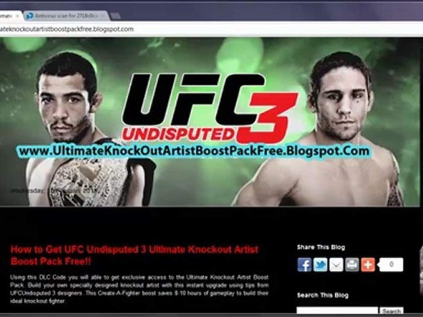 How To Install Ufc Undisputed 3 Ultimate Knockout Artist Boost Pack Dlc Free Redeem Codes Video Dailymotion