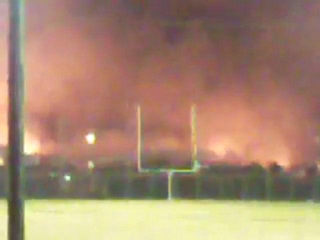 Incendie d'un entrepôt à La Courneuve