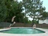 Swimming pool bad jump
