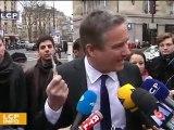 Nicolas Dupont-Aignan réagit à la fin du Franc
