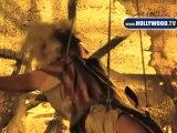 Ke$ha  Music Video Shoot Cross Street of Beaudry and 2nd Street Downtown LA 110210