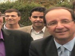 François Hollande en visite à Asnières