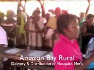 Papua New Guinea, Abau District: Bednet distribution