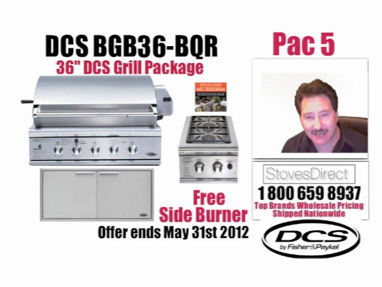 BGB36 BQR Pac5 DCS Gas Grills 36 Inch Built In head