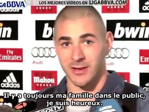 Karim Benzema ne pense pas à Barcelone