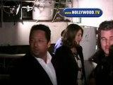 Eric Dane and Rebecca Gayheart leaving Madeos .