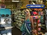 Kathy and Paris Hilton Shopping At Beverly Glen Plaza.