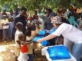 Uganda, Bujako Island: Bednet distribution