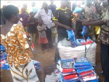 Togo, Keran, Pesside: Bednet distribution
