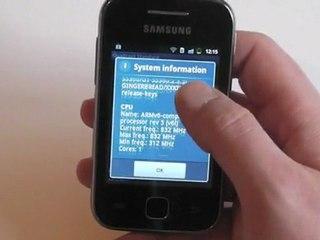 Samsung Galaxy Y Test  / Review HD Deutsch / German Galaxy Young