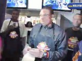 LA Laker Shannon Brown celebrates his 25th birthday at Millions Of Milkshakes Westfield Culver City.