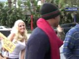 Sex Stars Karissa Shannon, Sam Jones IIIrd Enter Staples Center