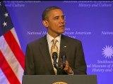 Obama at African-American museum groundbreaking