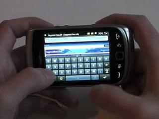 BlackBerry Torch 2 9810 Internet Test / Review HD Deutsch / German