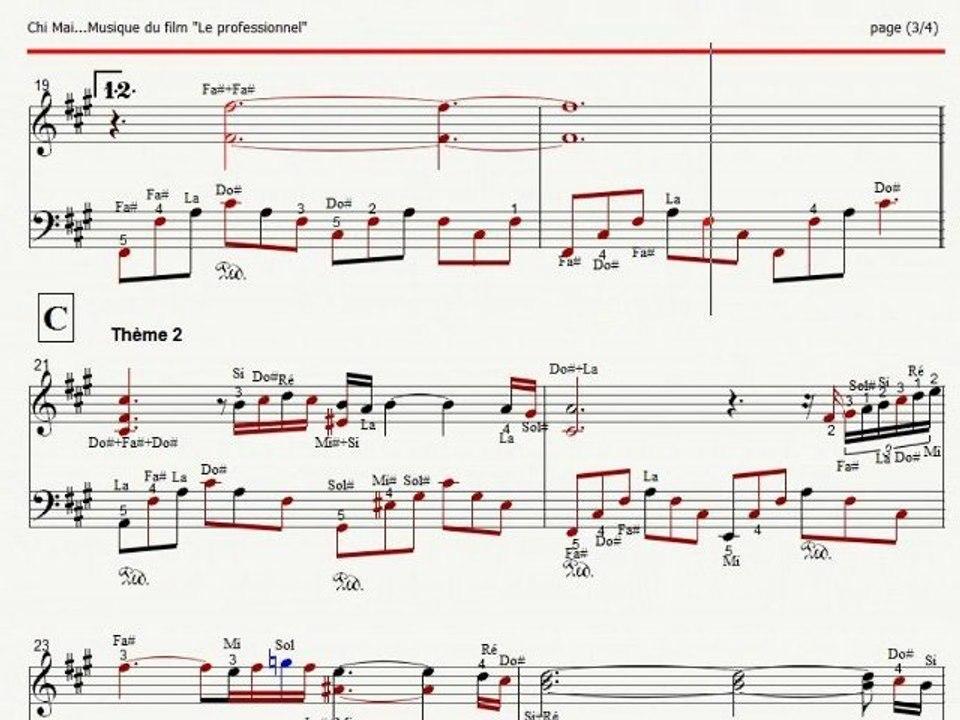 Chi Mai Piano De Ennio Morricone Avec Partition Video Dailymotion