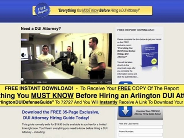 Arlington DUI Lawyers – Download Our FREE DUI Lawyers Guide