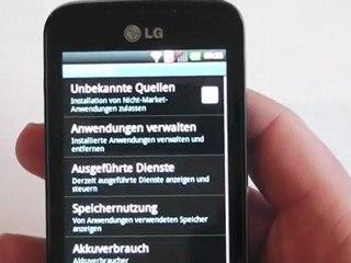 LG Optimus Hub E510 Test / Review HD Deutsch / German