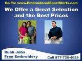 Embroidered sport shirts, polo shirt embroidery, polos, logo