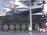 SYRIE: Au plus près des chars d'Al Assad - Douma - 11/02/2012 - Sous-titres français