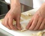Recette de crème de petits pois, raviole de gorgonzola et chèvre