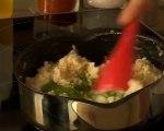 Recette de calamars farcis risotto pesto roquette.mo