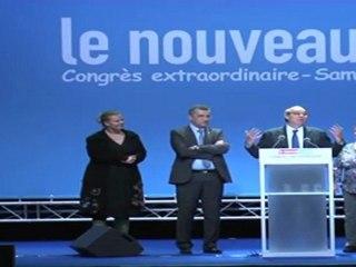 Proclamation du résultat du vote -  Congrès extraordinaire du Nouveau Centre