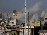 فري برس   حمص باباعمرو سقوط عدد من القذائف على الحي 28 2 2012