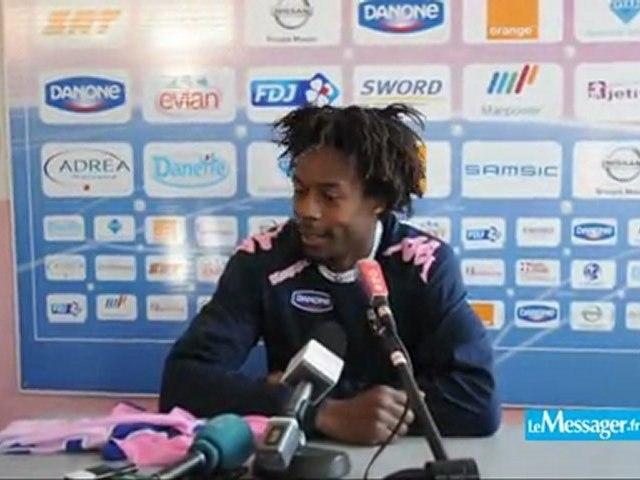 Gaël Monfils à l'entraînement de l'ETG FC