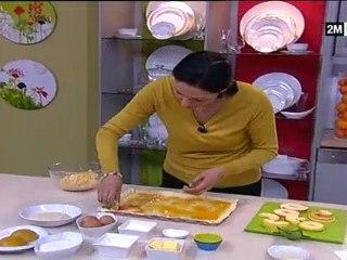 Choumicha - Tarte Briochée aux Pommes et Cake au Coulis