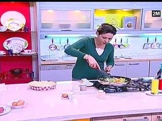 Choumicha - Tourte aux Légumes Kefta et oeufs