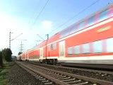 BR146 mit Dostos nach Bonn und BR146 mit Dostos nach Köln bei Roisdorf