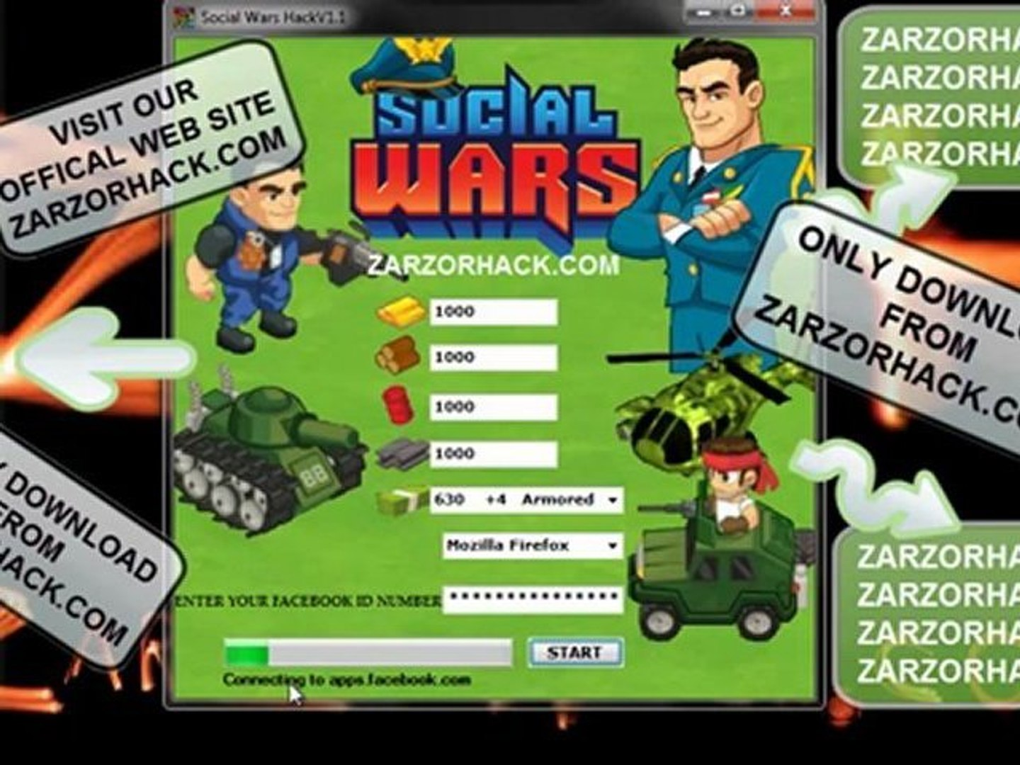 SOCIAL WARS CHEAT TOOL V1.1 (SOCIAL WARS CASH, GOLD, WOOD, OIL AND STEEL) UPDATED FREE DOWNLOAD + *N
