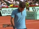 Roland Garros 2009 - Semifinals - Federer vs Del Potro - Wonderful Dropshot (HD)